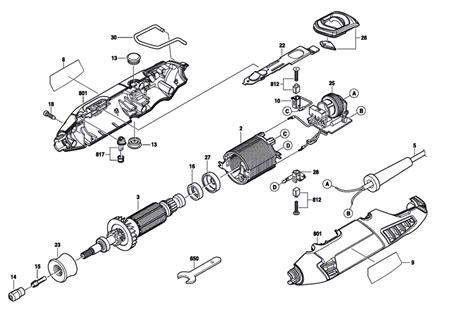 dremel parts diagram buy dremel 4000 f013400001 replacement tool parts