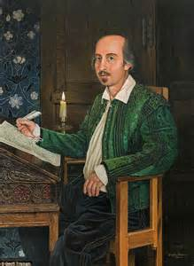 One of the most famous paintings of the bard the flower portrait was