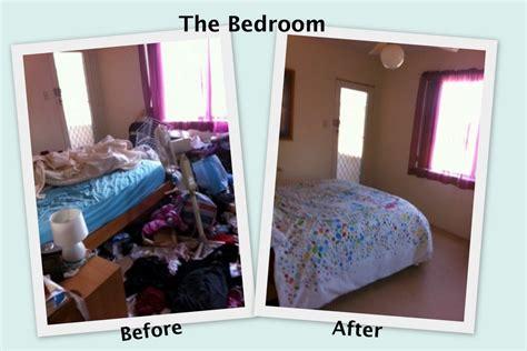 declutter my bedroom before after