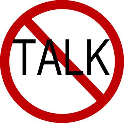 No Talking Clipart no talk clip at clker vector clip