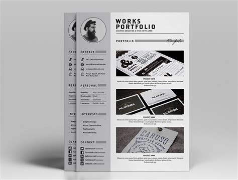 Cover Letter Template Psd free resume cv design template with cover letter
