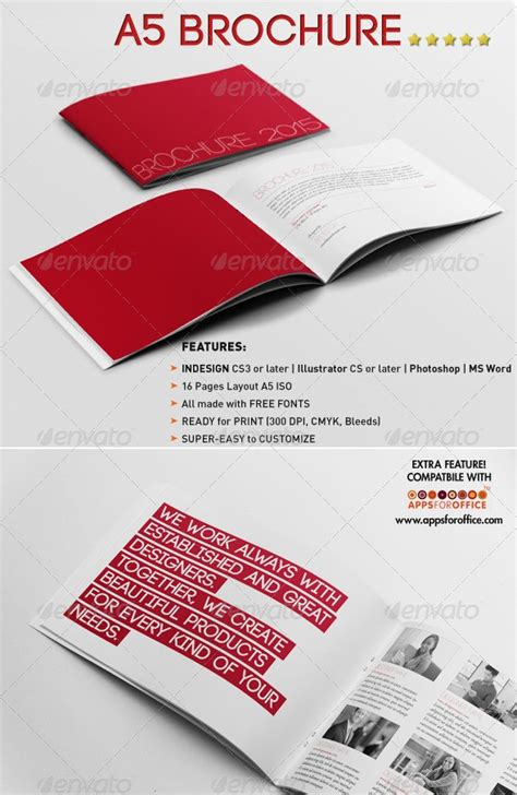 65 Print Ready Brochure Templates Free Psd Indesign Ai Download Psdtemplatesblog A5 Size Brochure Templates Psd Free