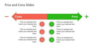 Pros And Cons List Template by Pros Cons Slide Diagrams For Powerpoint Slidemodel