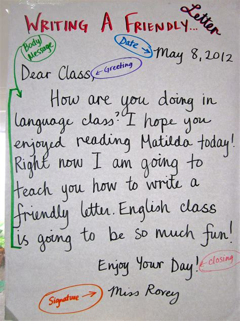 Language Letter Writing miss rorey s room friendly letter writing