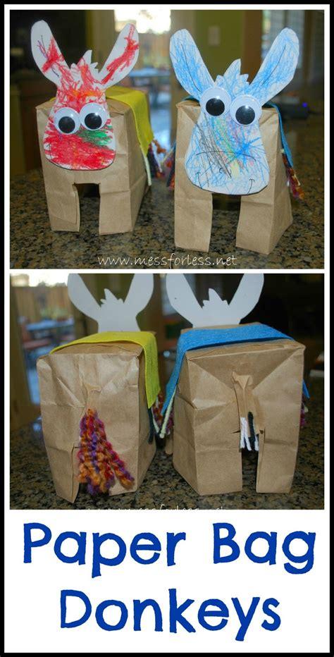 paper bag donkey pattern paper bag donkeys donkey crafts for kids mess for less