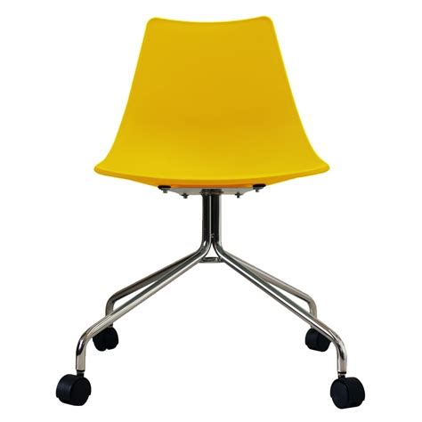 yellow swivel desk chair yellow modern swivel chair from only home