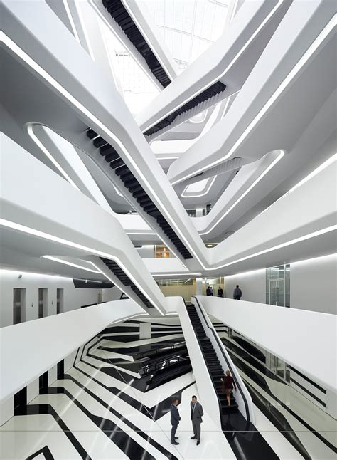 zaha hadid interior dominion office building zaha hadid architects archdaily