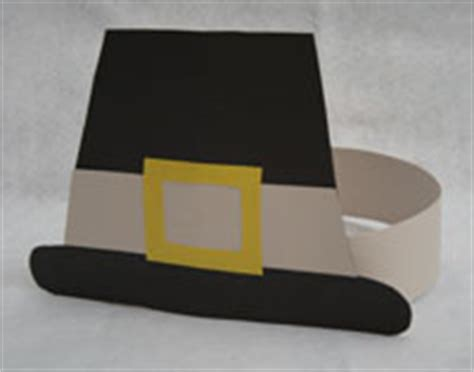How To Make Pilgrim Hats From Paper - thanksgiving pilgrim hat craft all network