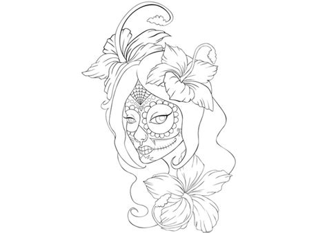 gallery cute sugar skull coloring