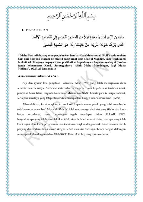 Cara Membuat Proposal Isra Mi Raj | contoh proposal isra miraj contoh bee