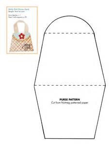 7 best images of free printable paper purse templates