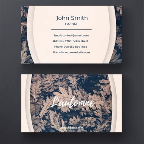 Free Business Card Templates Nature by Nature Business Card Template Psd File Free