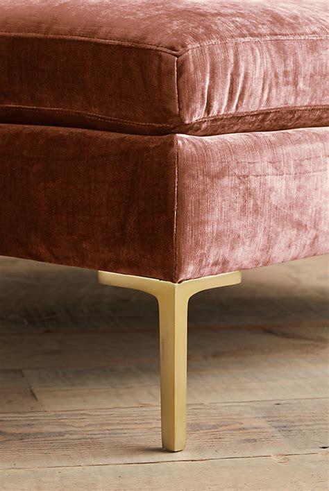 ottoman velvet slub velvet edlyn sofa anthropologie