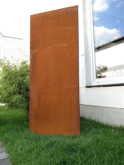 sichtschutz garten ideen metall rost gartendeko edelrost sichtschutz metall sichtschutzwand