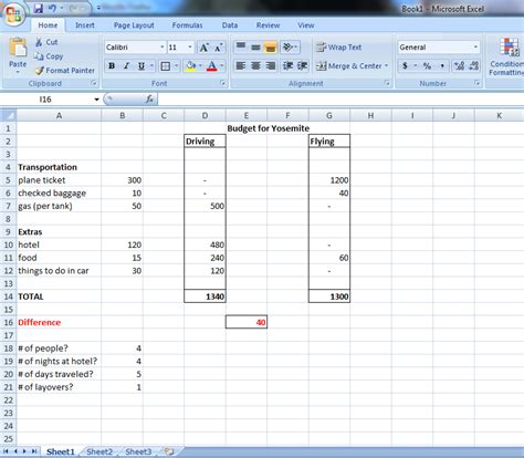 tutorial excel budget tutorial 2 excel budget vacation budget on excel