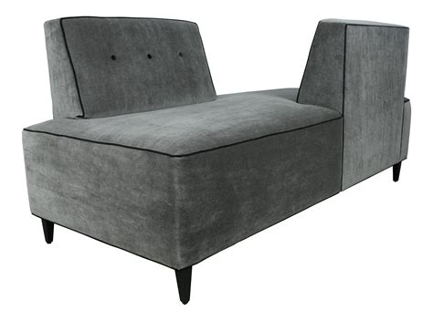 double sided sofa modern mohair double sided sofa chairish