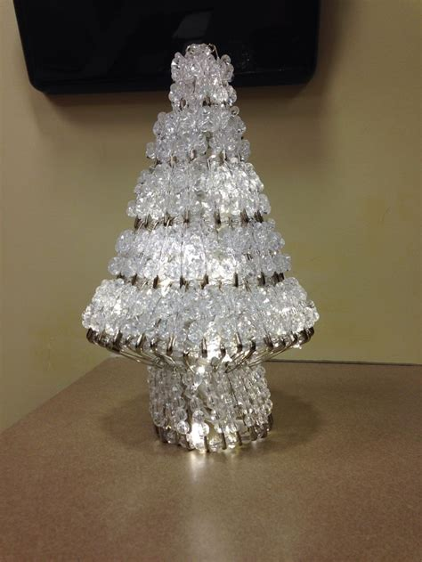 bead and safety pin christmas tree crafts pinterest