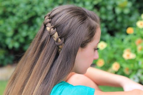 cute girl hairstyles knotted braid waterfall braid cute girls hairstyles