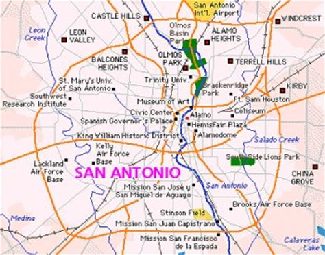 map of san antonio texas area escape to san antonio texas