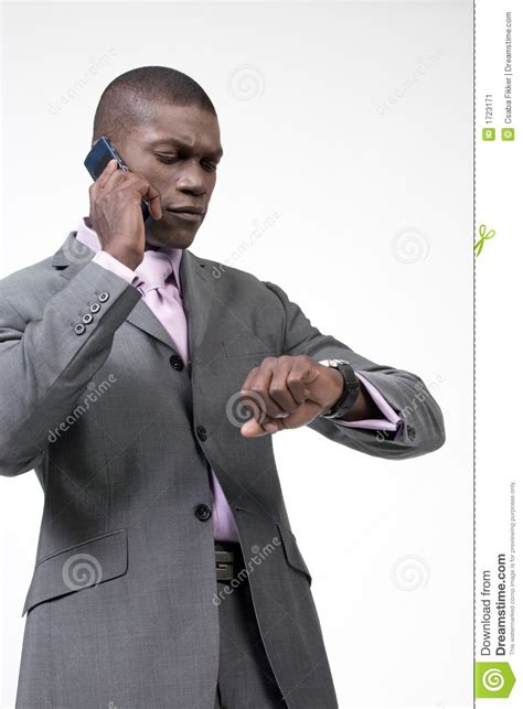 on phone busy businessman on phone stock image image 1723171