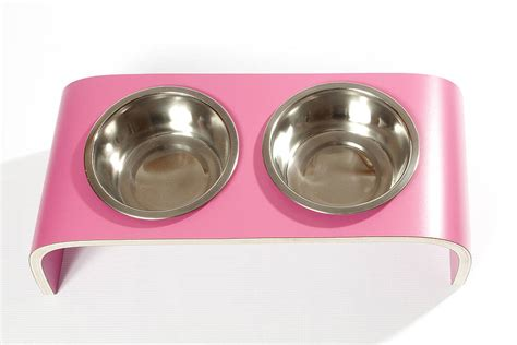 designer dog bowls designer dog bowl holder by lola and daisy designs notonthehighstreet com