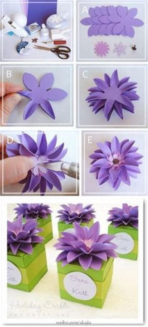 How To Make Flowers Out Of Construction Paper 3d - how to make 3d origami flowers out of construction paper