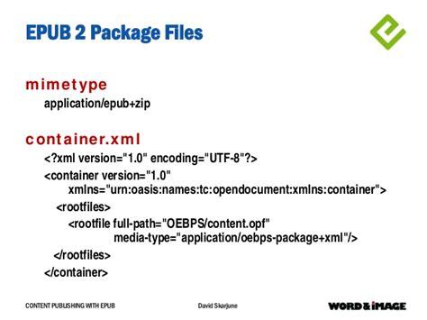 ebook xml format content publishing with epub