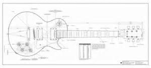 Blueprint Pdf Best Photos Of Les Paul Guitar Outline Gibson Les Paul