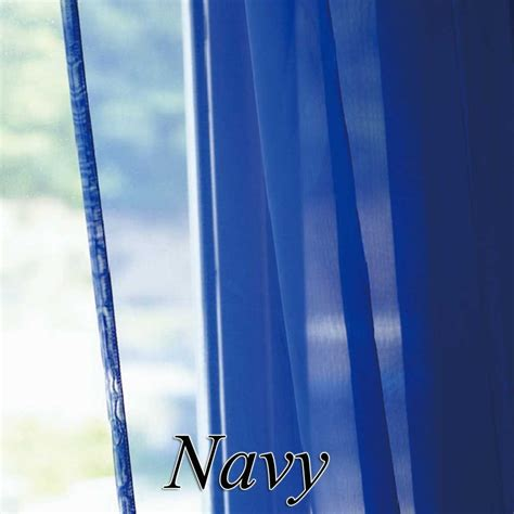 Navy Voile Curtains Voile Sheer Curtain Panel