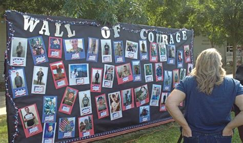 wall of courage highlights plight veteran s week at hondo college el paisano