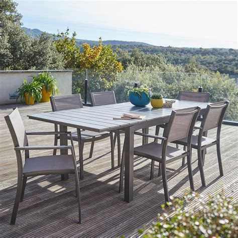 Table De Jardin 6 Personnes 5204 by Salon De Jardin Salerno Gris 6 Personnes Leroy Merlin