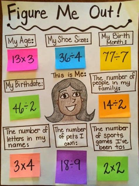 biography teaching ideas figure me out quot all about me quot math activity for beginning