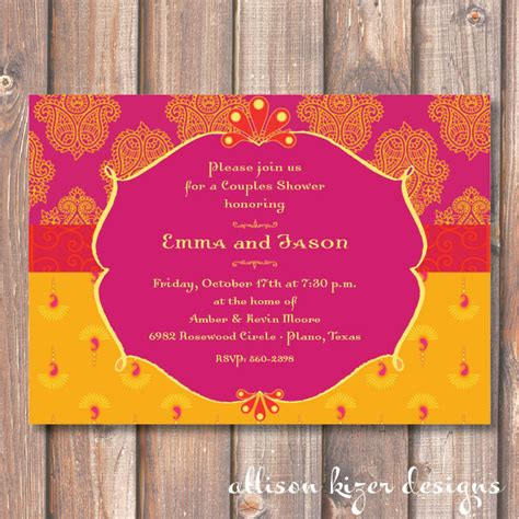 Hot Pink And Yellow Morocco Bridal Shower Printable Invitation Moroccan Invitations Templates