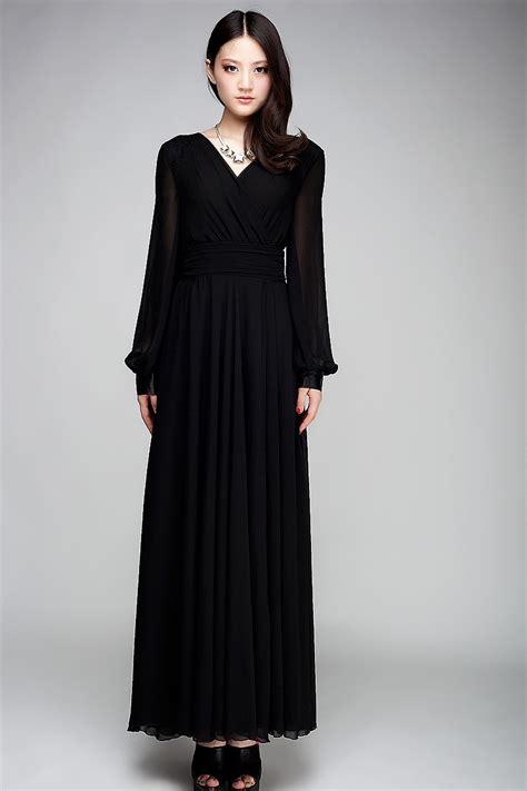 uzun kollu siyah uzun elbise modelleri gelinlik vitrini gelinlik modelleri gelinlikseciyorum com siyah uzun