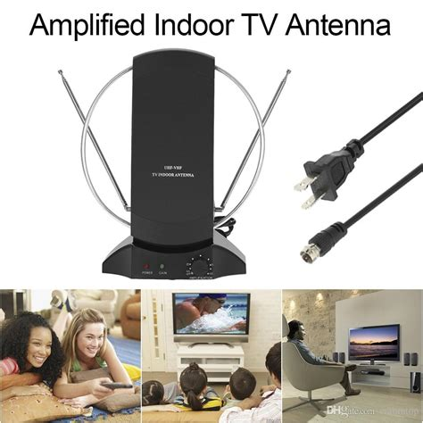 lan 1014 lified hdtv indoor digital tv antenna 50 mile range uhf vhf with power supply for
