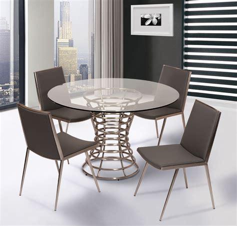 ibiza brushed stainless steel dining room set lcibdib201
