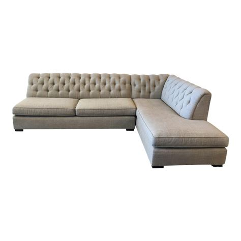 Mitchell Gold Sectional Sofa by Mitchell Gold Tufted 2 Pc Sectional Sofa Original Price