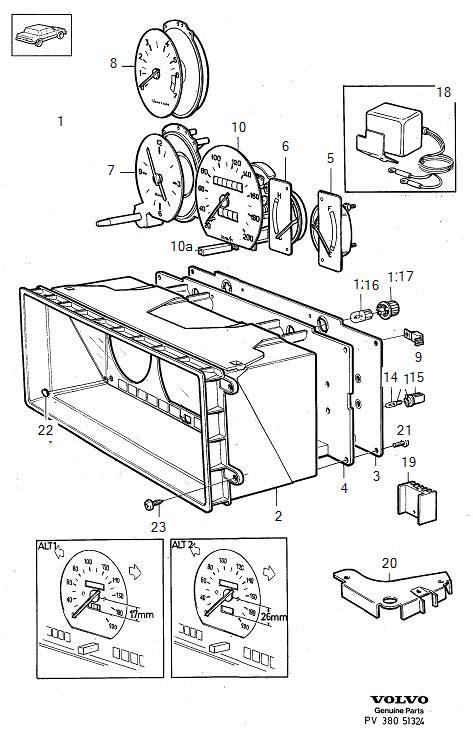 volvo  tachometer genuine classic part instrument combined combi  genuine