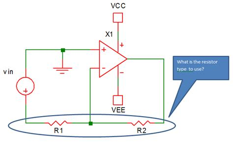 what is a gain resistor electronic circuit design op circuit gain setting resistor type and package