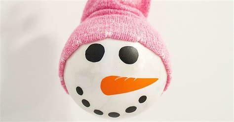 diy sock snowman ornament diy snowman ornament with a sock hat