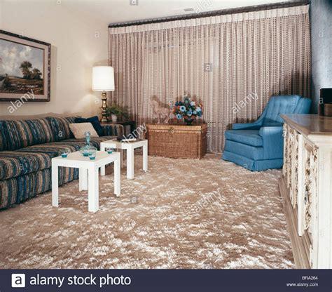 1960s living room 1960s living room shag carpet square module end tables