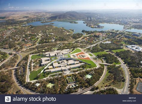 buy house canberra parliament house capital hill and lake burley griffin canberra act stock photo