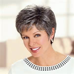 salt and pepper pixie cut human hair wigs cancer patients wigs chemo wigs short wigs diane wig