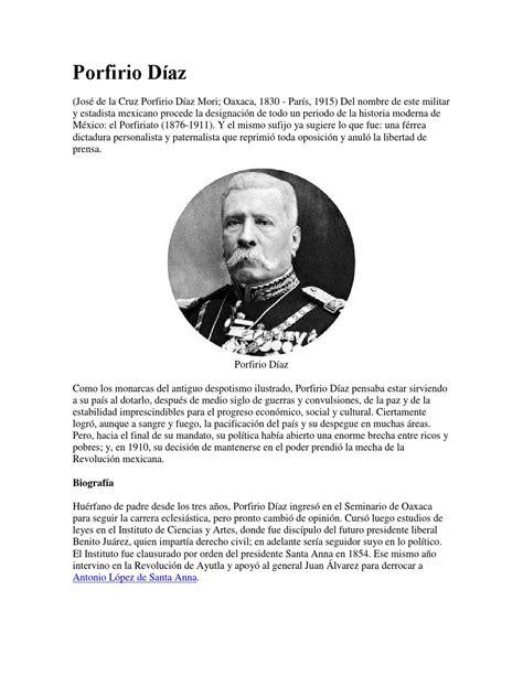 biograf a de porfirio d az buscabiografias porfirio diaz by francisco mendoza issuu