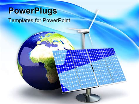 powerpoint templates for renewable energy 3d rendered illustration alternative energy europe
