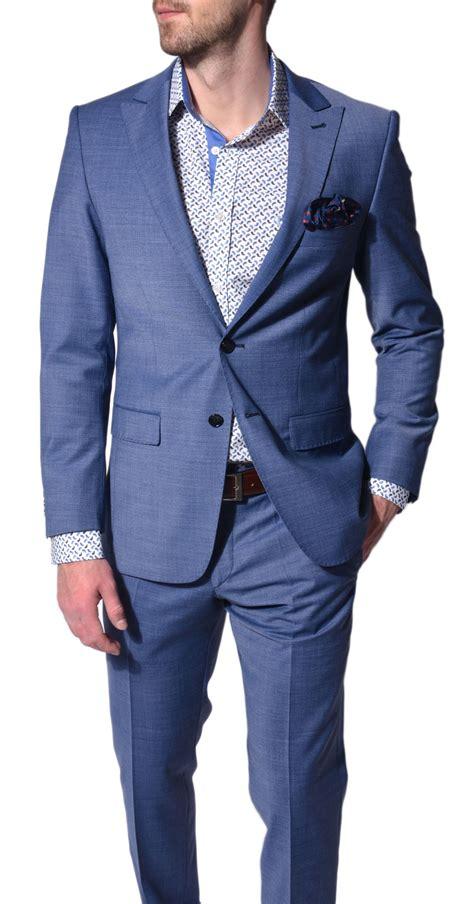 Light Blue Slim Fit Suit Suits E Shop Alaindelon Co Uk
