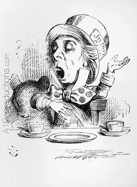 The Mad Hatter, illustration from Alices Adventures in