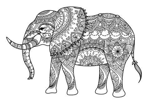 hard coloring pages of elephants los mejores mandalas de elefantes debuda net
