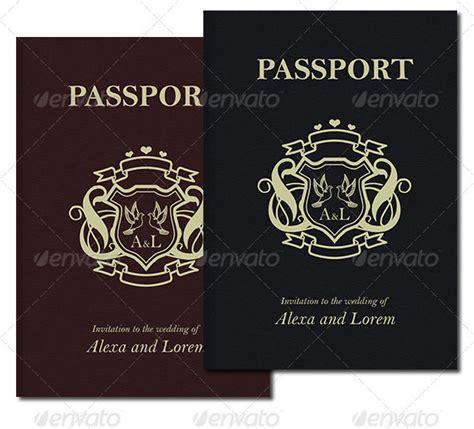 save the date passport template 21 psd wedding invitation templates print