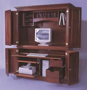 Solid Wood Computer Desk With Hutch Amish Computer Armoires